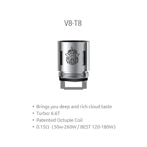 Smok TFV8 V8-T8 Octuple Coil (0.15ohm) (Pack 3) 3
