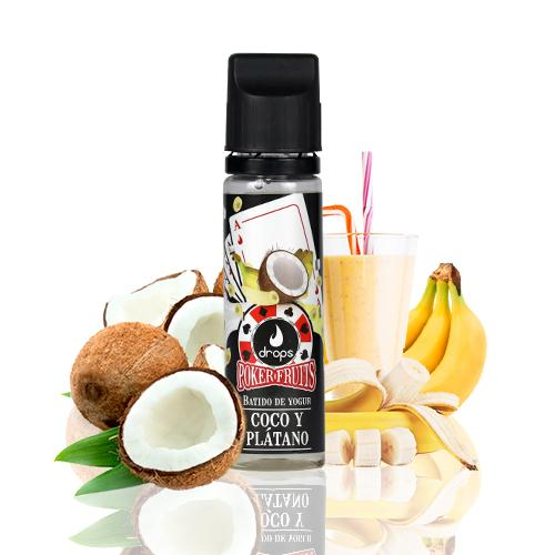 Drops Poker Fruits Batido de Coco Plátano 50ml (Shortfill) 3