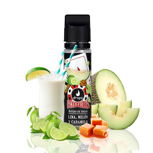 Drops Poker Fruits Batido de Lima Melón y Caramelo 50ml (Shortfill) 3